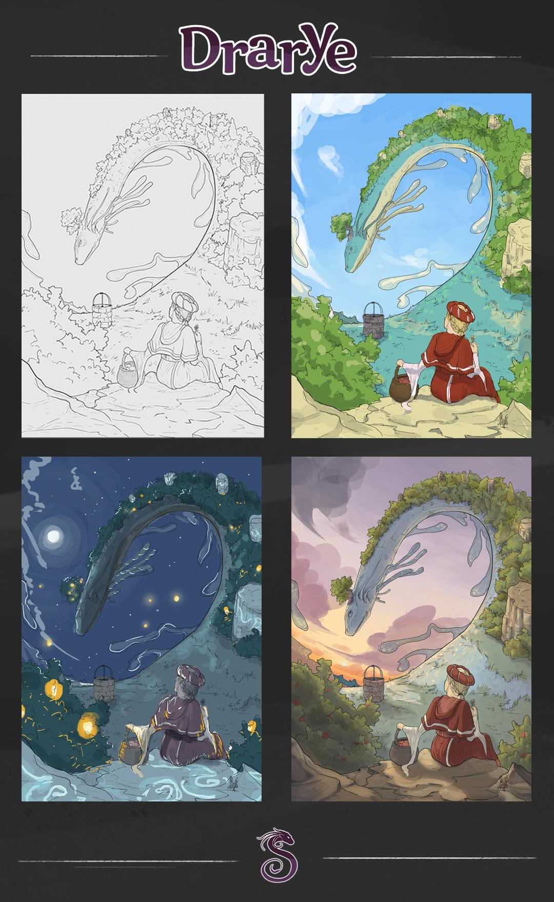 illustrazione fantasy colore
