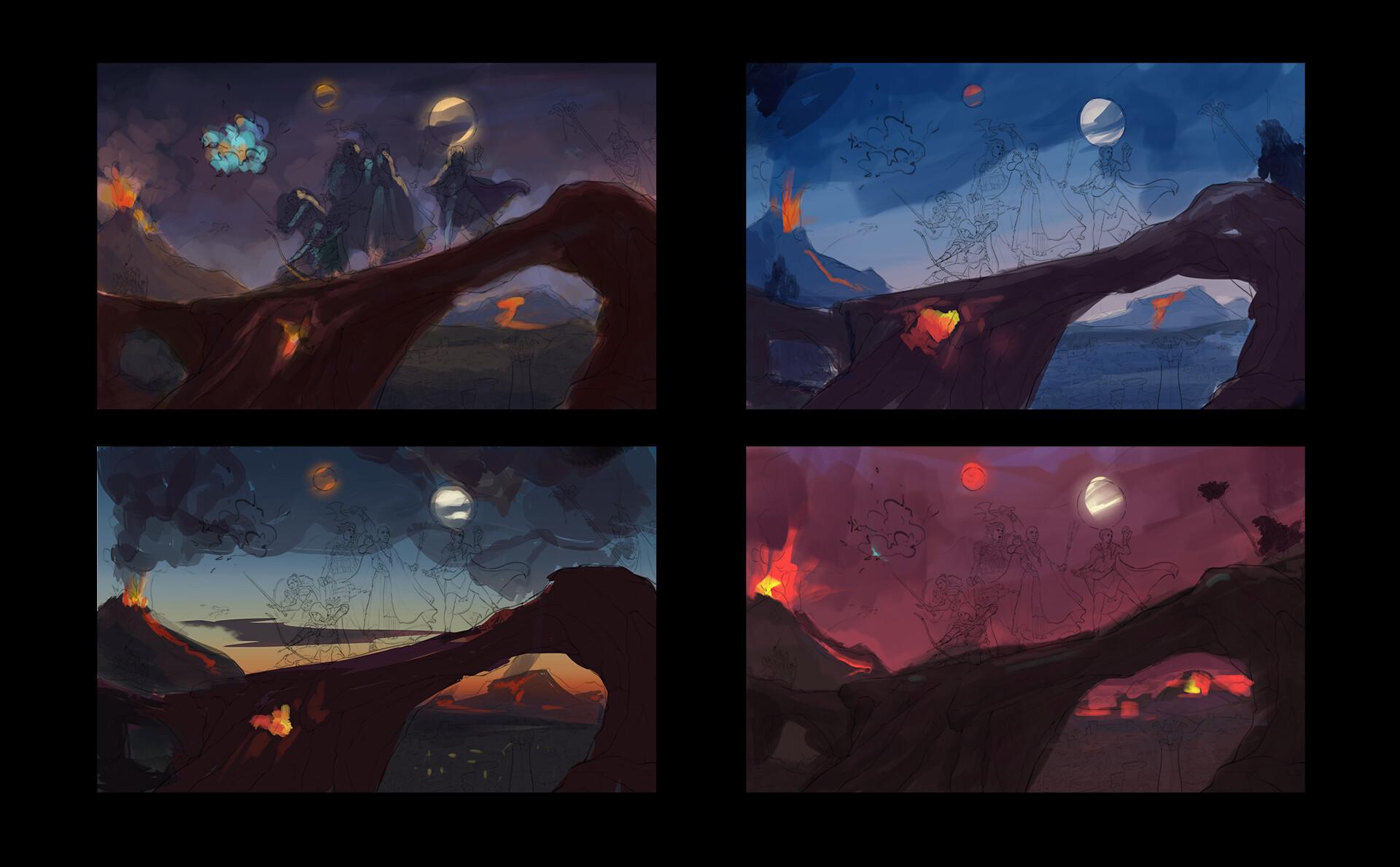 Dragonlance color sketch